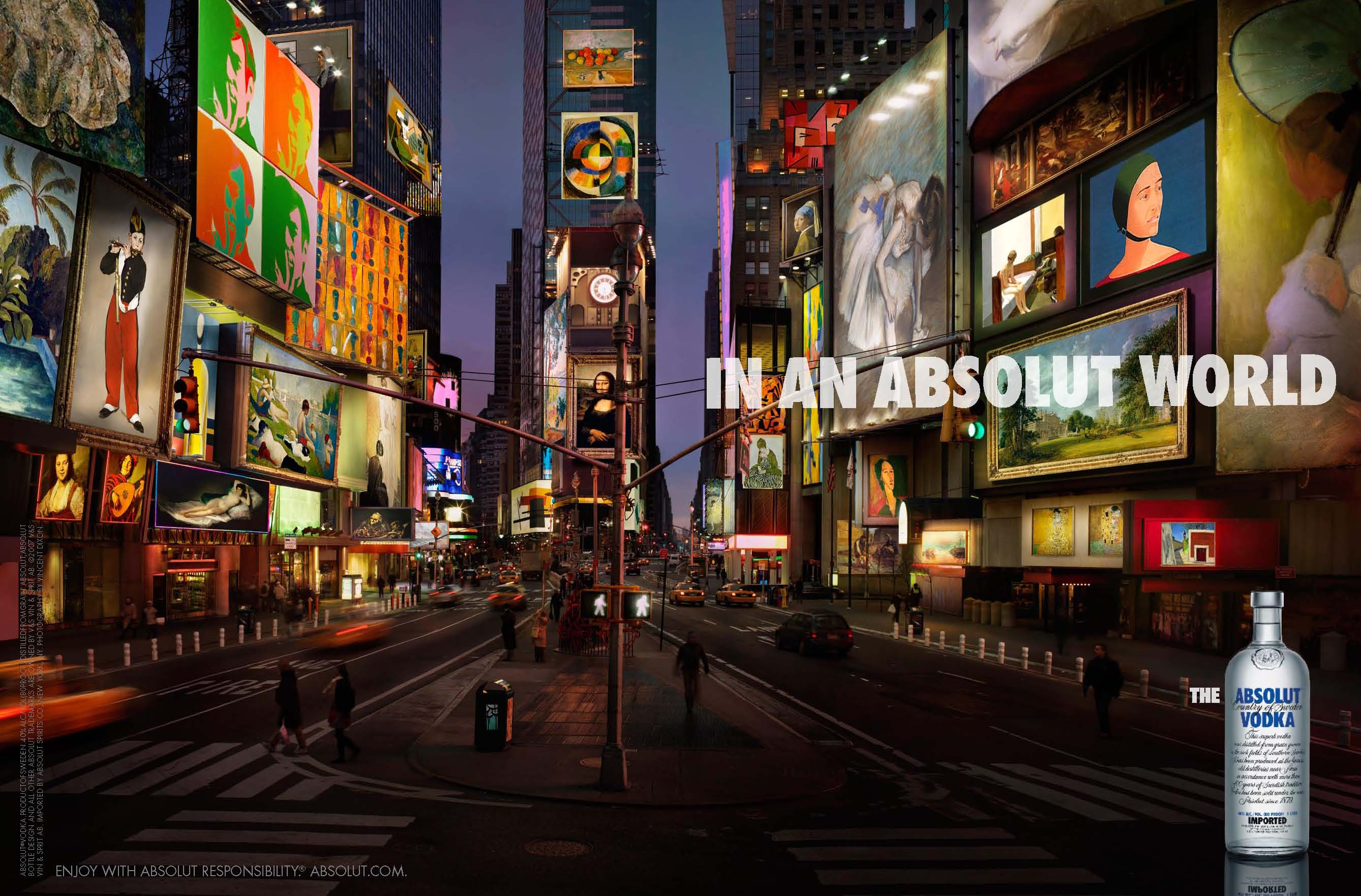 In an absolut world : Times Square