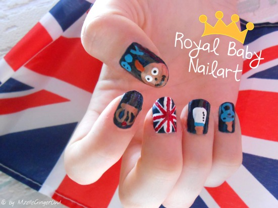 royal baby nailart